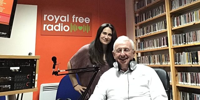 John and Genevieve in the Royal Free Radio studio
