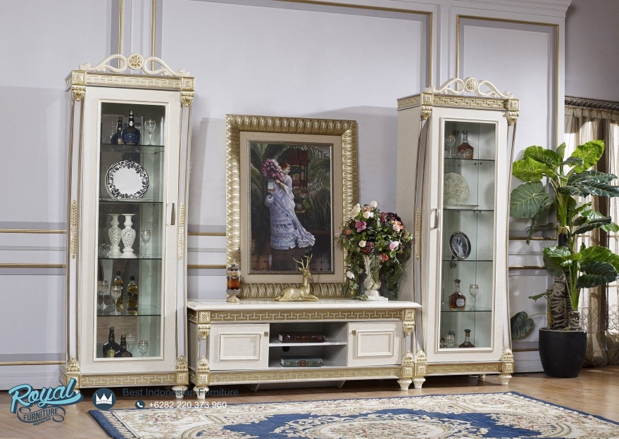 Buffet TV Modern Ukiran Mewah Terbaru  Royal Furniture Indonesia