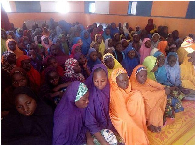 Adolescents inside the Friendly Centre in Bama, Bama LGA, Borno State.