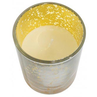 Mercury Votive Glass Prefilled Silvergold Royal Imports