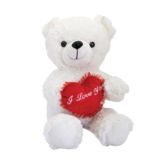 white cecil bear plush stuffed animal 24in