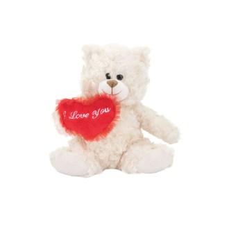 beige fluffy bear plush stuffed animal 12in