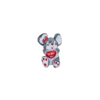 pink/white mice plush stuffed animal 9in