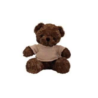 """10"""" brown teddy bear plush stuffed animal with sweater"""