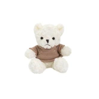 "10"" white teddy bear plush stuffed animal with sweater"