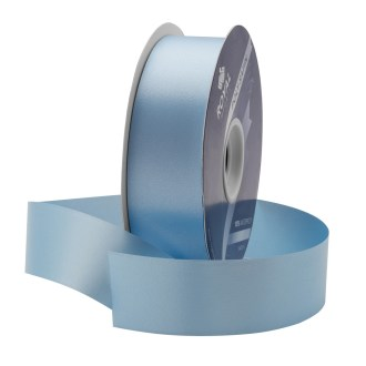 blue waterproof poly-satin ribbon 1.375in