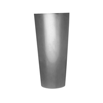 ceramic silver beaker flower vase