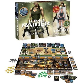 Lara Croft Tombe Raider Jeu de société et Figurine collector(Neuf).