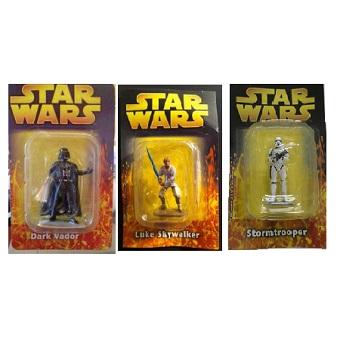3 fig Star Wars métal neuves édition Atlas 2005