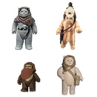 4 Ewok fig Star Wars 1983 84 rare vintage