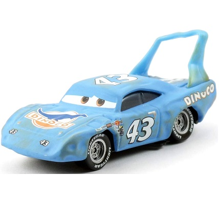 The King accidenté voiture 43 DINOCO rare Cars Disney/Pixar