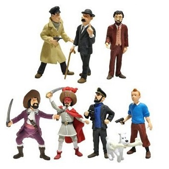Tintin 8 petites figurines Paramount Picture Playstoy 2011