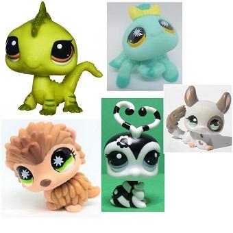 5 Pet Shop rare collector (LPS) Hasbro