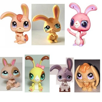 7 Lapins Pet Shop (LPS) Hasbro
