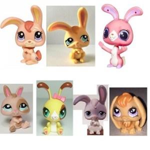 7 Lapins Pet Shop (LPS) Hasbro