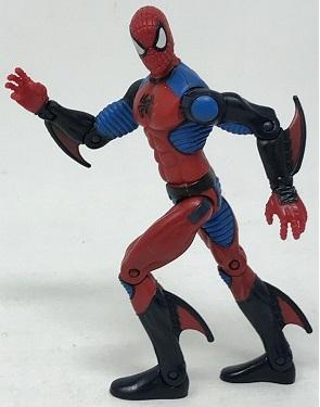 Spiderman avec ailerons aux bras et jambes 2008 Marvel Hasbro 16 cm