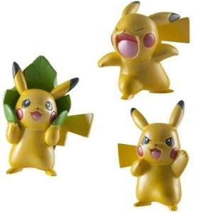 Pikachu Pokemon Série Limitée 3 figurines.