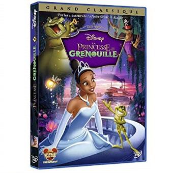 Princesse Tiana et Prince Naveen figurine la princesse et la grenouille Disney+DVD.