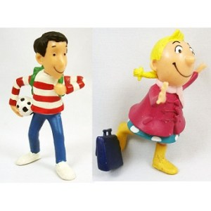 Tomtom et Nana 2 figurines Papo Bayard presse 1999