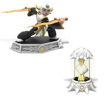 Sensei Aurora + Cristal Lumière figurines Skylanders Imaginators.