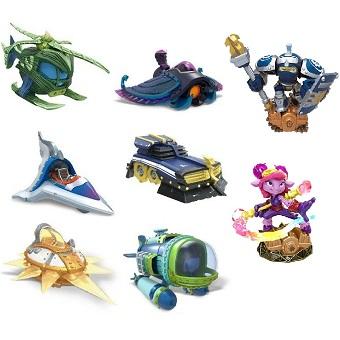 Skylanders SuperChargers 2 figurines + 6 véhicules.