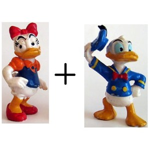 Donald et Daisy 2 figurines Disney peint a la Mains