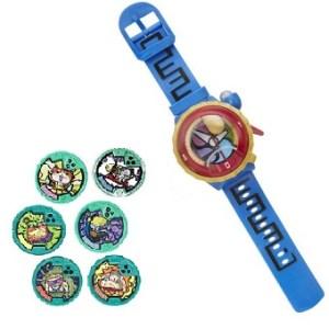 Montre Yo Kai Watch S2 + 6 médaillons vert