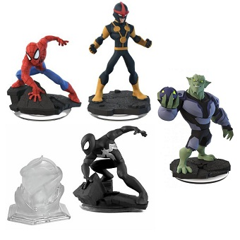 Spider-man DISNEY INFINITY 2.0 4 figurines Marvel + Monde.