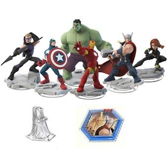 Avengers DISNEY INFINITY 2.0 6 figurines Marvel + Monde +Power disc.