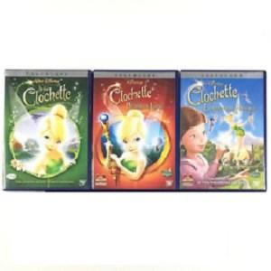 3 DVD la Fée Clochette Disney