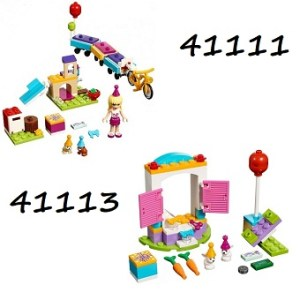 LEGO Friends 41111 et 41113 Le train des animaux+L'anniversaire des lapins