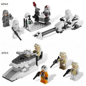 LEGO Star Wars 8083 et 8084 Rebel Trooper™ + Snowtrooper™ Battle Pack