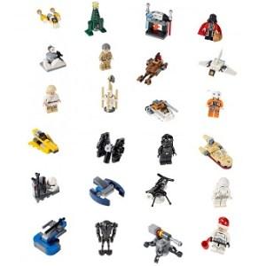 LEGO Star Wars 75056 Calendrier de l'Avant complet sans boite ni notice.