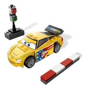 LEGO Cars 9481 Jeff Gorvette avec boite et notice.