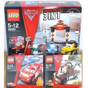 LEGO Cars 2 Super Pack 3 en 1 66387 (8200+8201+8206) Avec boites et notices.