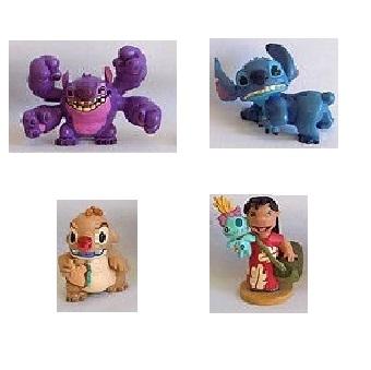 4 figurines Lilo et Stitch Disney d'occasion