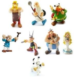 8 figurines Astérix et Obélix PLASTOY 1997