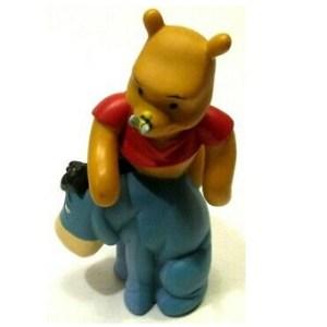 Bourriquet avec Winnie L'ourson sur ses épaules Figurine Disney Grovesnor.