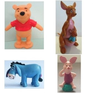 Winnie L'ourson et ses amis 4 Figurines Disney.