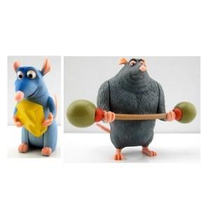 Rémy et git Ratatouille 2 figurines Disney/Pixar