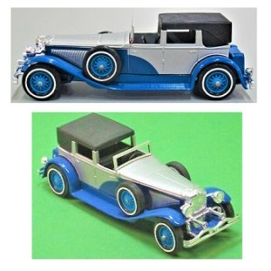 Matchbox 1975 Model J Duesenberg 1930 Yesteryear Town car.