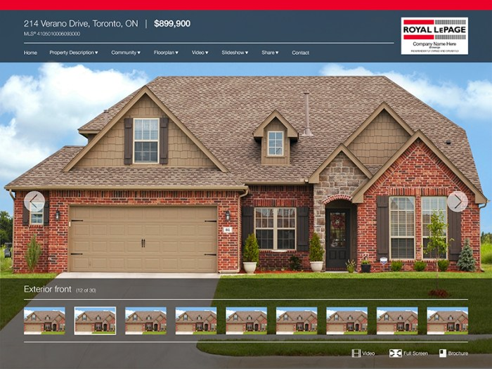 rlp single property website