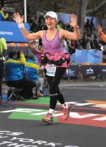 Royal LePage Northstar Realty sales representative Barbara Ann Kisiloski crosses the finish line at the 2015 New York City Marathon
