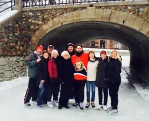 Beards on Ice skaters in Ottawa, ON