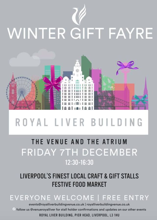 Royal Liver Building Winter Gift Fayre Friday 7th December Liverpools finest Craft & Gift Stalls