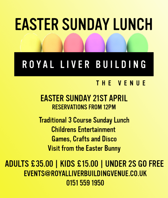 Easter Sunday lunch at the royal liver building