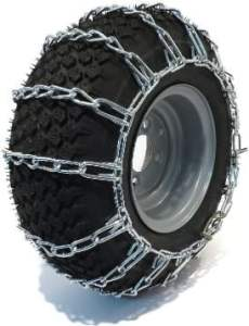 The ROP Shop Pair 2 Link Tire Chains For Lawn Mower & Garden Tractor Rider