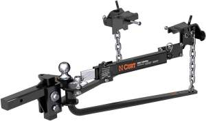 CURT 17063 MV Round Bar Weight Distribution Hitch with Sway Control