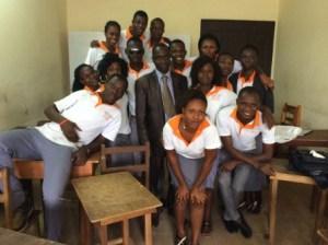 La pause du cours de TCI CESA Koumassi Abidjan