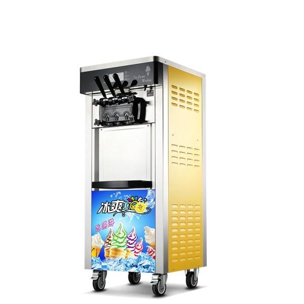 Mesin Es Krim 3 Keran ROYAL ICR-BQ808 Yellow